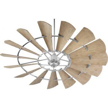 """Quorum Windmill 72"""" Indoor/Outdoor Ceiling Fan in Galvanized"""