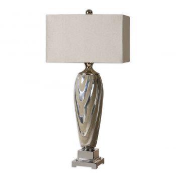 """Uttermost Allegheny 38"""" Ceramic Table Lamp in Dusty Beige"""