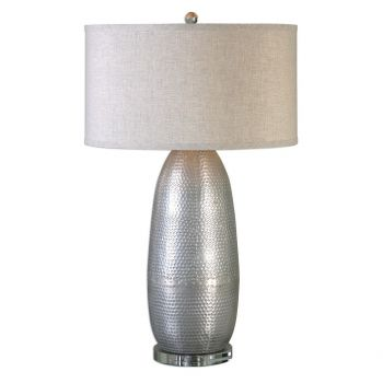 """Uttermost Tartaro 32.25"""" Table Lamp in Burnished Industrial Silver"""