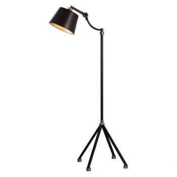 "Uttermost Marias 43.5"" Floor Lamp in Rust Black"