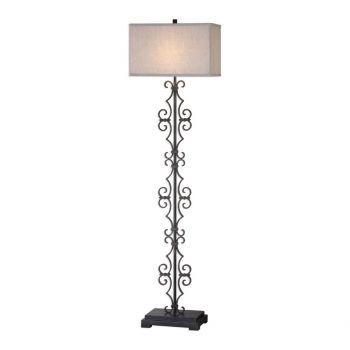 """Uttermost Adelardo 67.75"""" Floor Lamp in Distressed Rust Bronze"""