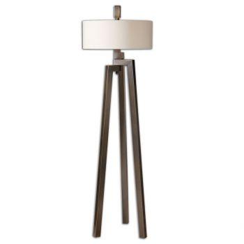 "Uttermost Mondovi 60"" 2-Light Floor Lamp in Antique Plated Brushed Bronze"