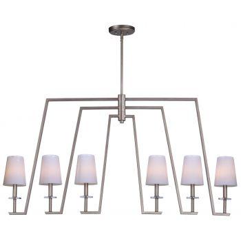 Maxim Lighting Swing 6-Light Linear Pendant in Platinum Dusk