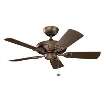 "Kichler Kevlar 42"" Ceiling Fan in Weathered Copper Powder Coat"