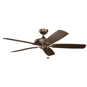 "Kichler Kevlar 60"" Ceiling Fan in Weathered Copper Powder Coat"
