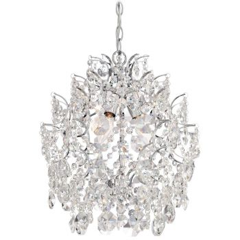 Minka Lavery Isabella's Crown 4-Light Crystal Chandelier in Chrome