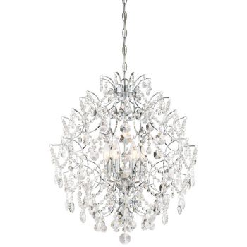 Minka Lavery Isabella's Crown 6-Light Crystal Chandelier in Chrome