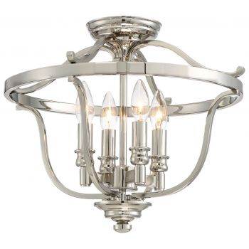 "Minka Lavery Audrey'S Point 4-Light 17"" Ceiling Light in Polished Nickel"