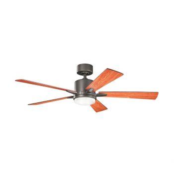 """Kichler Lucian 52"""" LED Ceiling Fan in Olde Bronze"""
