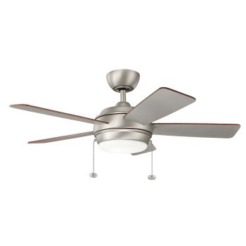 "Kichler Starkk 42"" LED Ceiling Fan in Brushed Nickel"