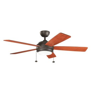 "Kichler Starkk 52"" LED Ceiling Fan in Olde Bronze"