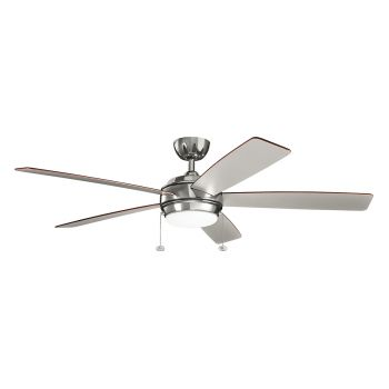 "Kichler Starkk 60"" LED Ceiling Fan in Polished Nickel"