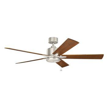"""Kichler Bowen 60"""" Ceiling Fan in Brushed Nickel"""