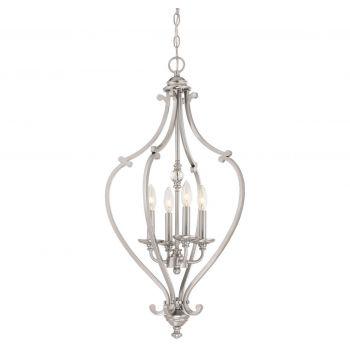"Minka Lavery Savannah Row 4-Light 17"" Pendant Light in Brushed Nickel"