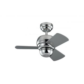 "Monte Carlo 24"" Micro 24 Fan Damp Rated Ceiling Fan in Polished Nickel"