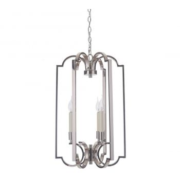 "Craftmade Crescent 3-Light 16"" Foyer Light in Polished Nickel"