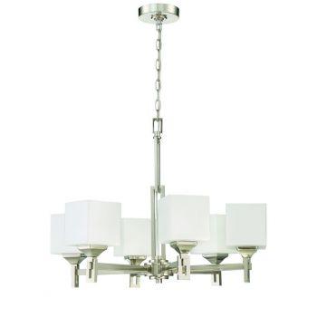 Craftmade Urbane 6-Light Modern Chandelier in Brushed Polished Nickel