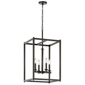 "Kichler Crosby 16"" 4-Light Foyer Pendant in Olde Bronze"