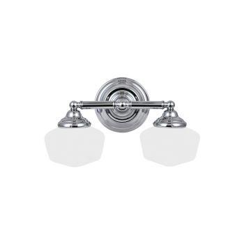 Sea Gull Lighting Academy 2-Light Bathroom Vanity Light in Chrome