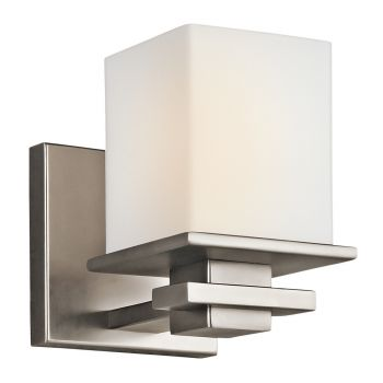 """Kichler Tully Cube 6.5"""" Wall Sconce in Antique Pewter"""