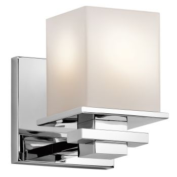 """Kichler Tully Cube 6.5"""" Wall Sconce in Chrome"""