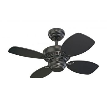 "Monte Carlo 28"" Colony II Ceiling Fan in Black"