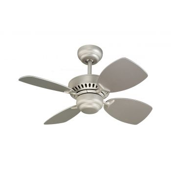 "Monte Carlo 28"" Colony II Ceiling Fan in Brushed Pewter"
