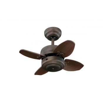 "Monte Carlo 20"" Mini 20 Ceiling Fan in Roman Bronze"
