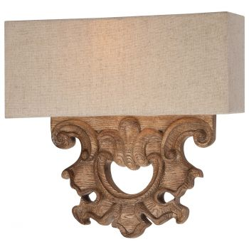 "Minka Lavery Abbott Place 2-Light 12"" Wall Sconce in Classic Oak Patina"