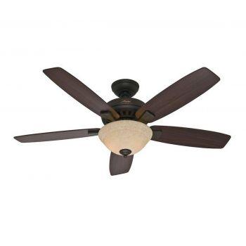 """Hunter Banyan 2-Light 52"""" Indoor Ceiling Fan in New Bronze"""