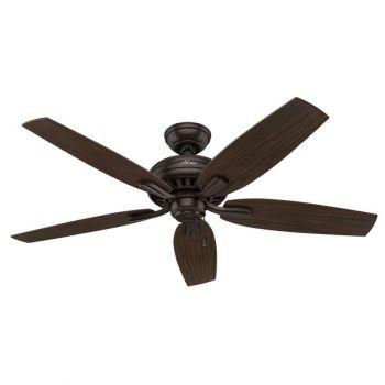 """Hunter Newsome 52"""" Indoor Ceiling Fan in Bronze/Brown"""