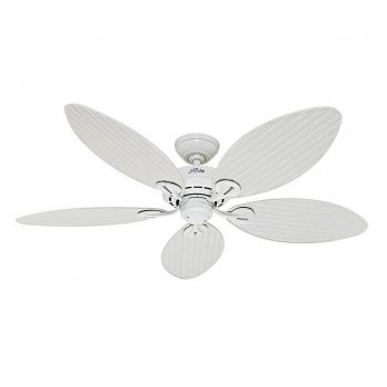 "Hunter Bayview 54"" Indoor/Outdoor Ceiling Fan in White"
