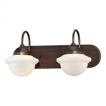 Millennium Lighting Neo-Industrial 2-Light Bathroom Vanity Light in Rubbed Bronze