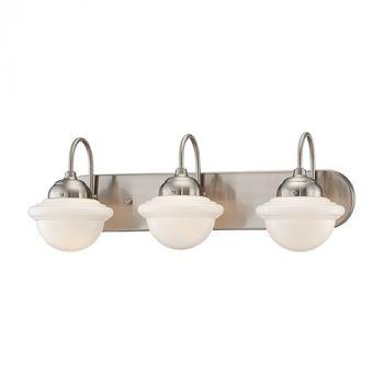 Millennium Lighting Neo-Industrial 3-Light Bathroom Vanity Light in Satin Nickel