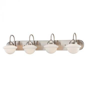 Millennium Lighting Neo-Industrial 4-Light Bathroom Vanity Light in Satin Nickel