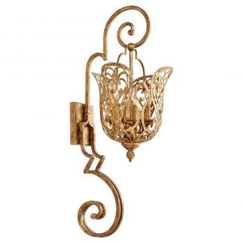 """Quorum Le Monde 4-Light 33"""" Wall Sconce in Vintage Gold Leaf"""