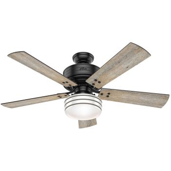 "Hunter Cedar Key 52"" Ceiling Fan in Matte Black"