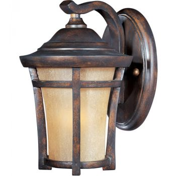 """Maxim Balboa VX LED 9.5"""" Outdoor Golden Frost Wall Mount in Copper Oxide"""