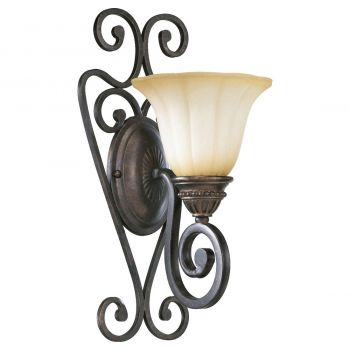 """Quorum Summerset 17"""" Wall Sconce in Toasted Sienna"""
