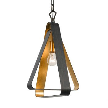 """Crystorama Luna 15"""" Mini Chandelier in English Bronze And Antique Gold"""