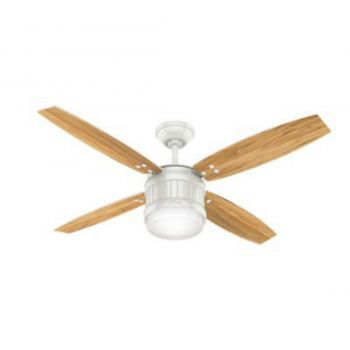 "Hunter Seahaven 52"" LED Ceiling Fan in White"