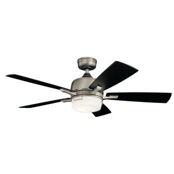 "Kichler Leeds LED 52"" Ceiling Fan in Antique Pewter"