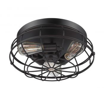 "Savoy House Scout 15"" 3-Light Ceiling Light in English Bronze"