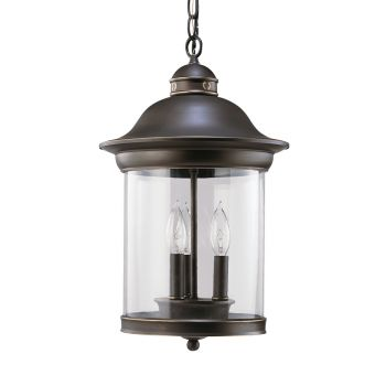 Sea Gull Lighting Hermitage 3-Light Outdoor Pendant in Antique Bronze