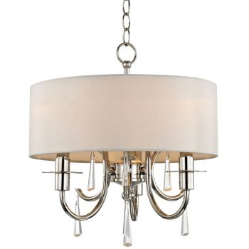 """Crystorama Cody 3-Light 17"""" Mini Chandelier in Polished Nickel with Clear Hand Cut Crystals"""