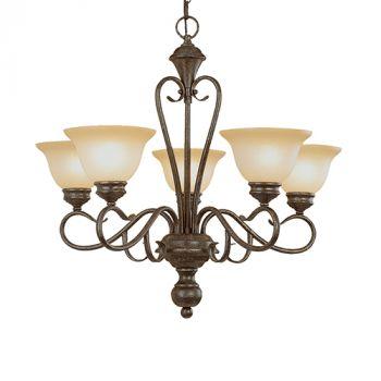 Millennium Lighting Devonshire 5-Light Chandelier in Burnished Gold