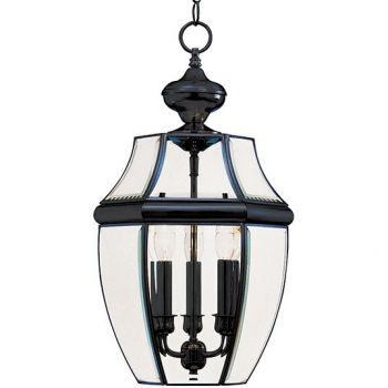 Maxim Lighting South Park 3-Light Outdoor Hanging Lantern in Black