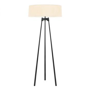 """Sonneman Torii 65.25"""" 3-Light Floor Lamp in Satin Black"""