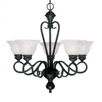 Millennium Lighting Devonshire 5-Light Chandelier in Black