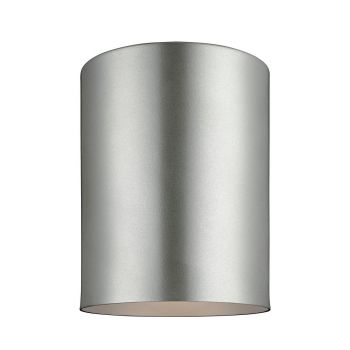 Sea Gull Lighting Outdoor Bullets Large LED Ceiling Flush Mount in Painted Brushed Nickel
